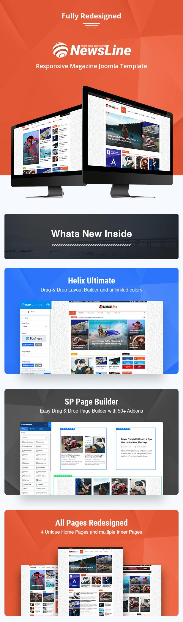 Newsline Joomla Features